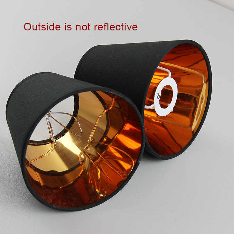 2PCS Modern Fashion Black gold color  plastic lamp shade covers, PVC lampshades, E14 and Clip on