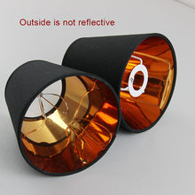 2PCS Modern Fashion Black gold color plastic lamp shade covers, PVC lampshades, E14 and Clip on(China)