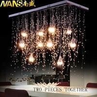 Нанс хрустальные светильники потолочные Освещение в помещении светодиодный Современный G4 светодиодный Метеоритный дождь освещения для го