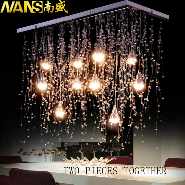 NANS Crystal Ceiling Lights Indoor Lighting LED Modern G4 Led Meteor Rain lighting for Living/Dining Room Lamps Home Decoration