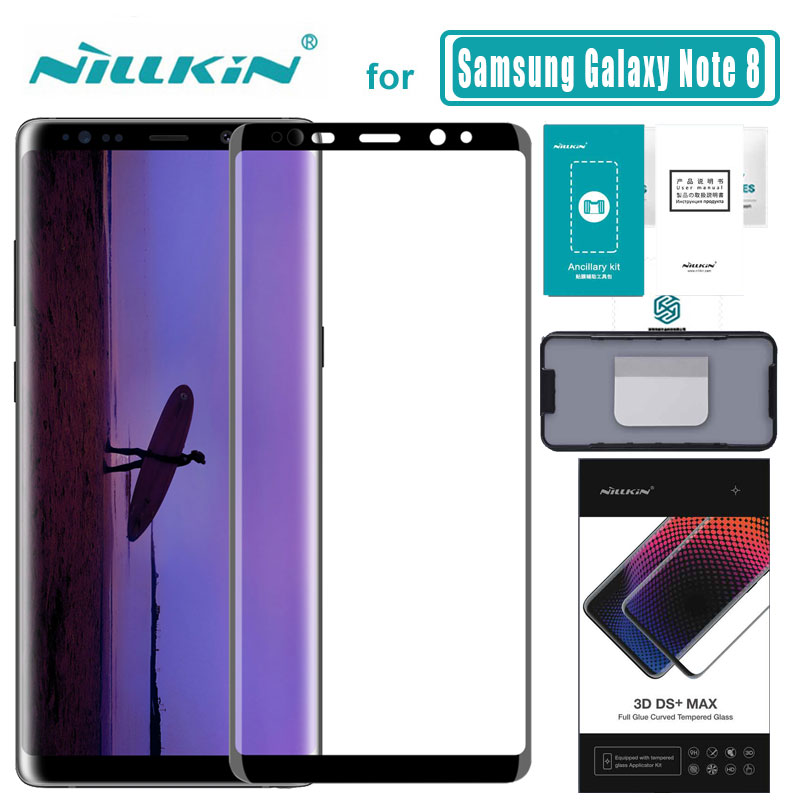 Note 8 3D DS+ Max Full Cover for Samsung Galaxy Note 8 Glass Tempered Glass Screen Protector Round Edge Nilkin HD Glass Film