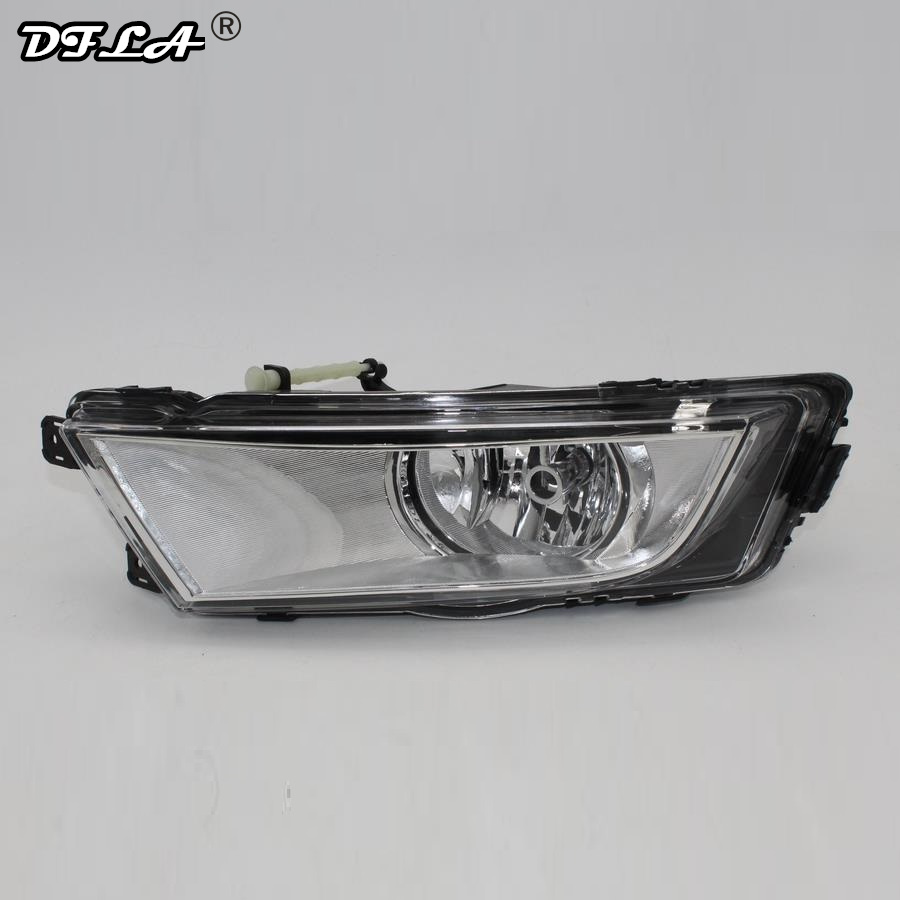 Left Side For Skoda Octavia A7 Sedan Octavia A7 Combi 2013 2014 2015 2016 2017 Car-styling Front Halogen Fog Light Fog Lamp right side for vw polo vento derby 2014 2015 2016 2017 front halogen fog light fog lamp assembly two holes