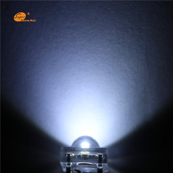 1000PCS white LED 5MM Piranha Super Flux Leds 4 pin Dome Wide Angle Super Bright  Light  Lamp For Car Light