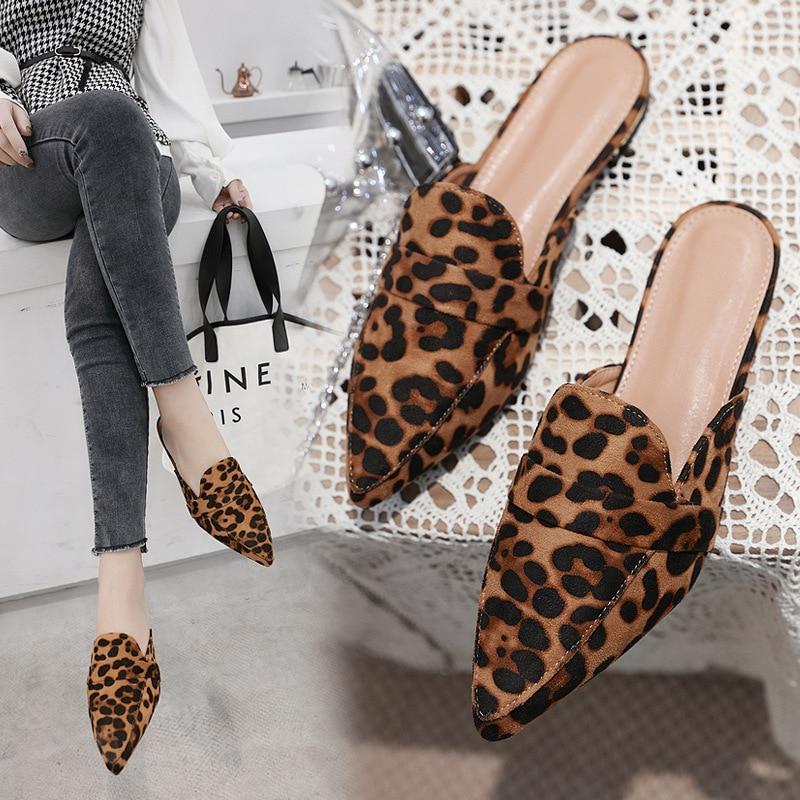 Big Size 41 leopard mules women new