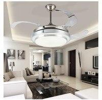 Светодиодный потолочный вентилятор с огнями дистанционного Управление 110 240Volt вентилятор Светодиодный лампочки Спальня вентилятор Беспла