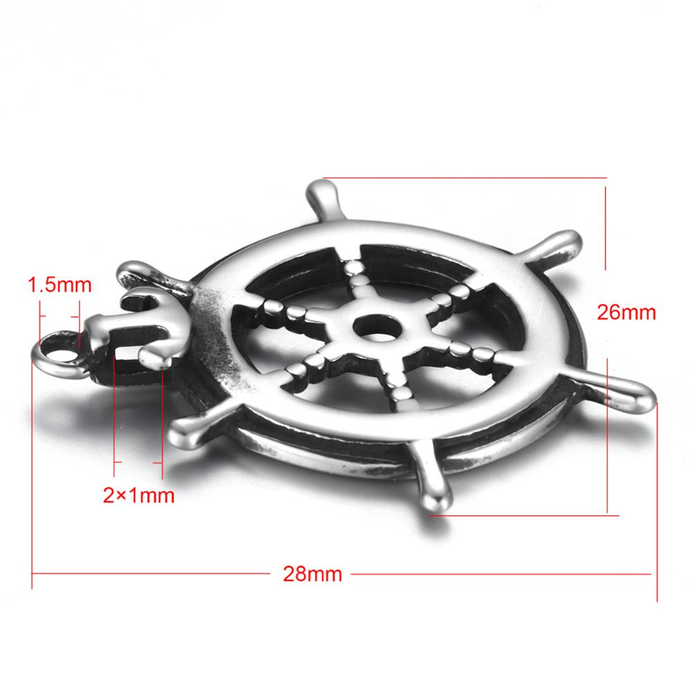 Stainless Steel Rudder Anchor Pendant Charms 1 5mm Hole Bracelet Necklace DIY Findings Components Jewelry Making Supplies in Charms from Jewelry Accessories