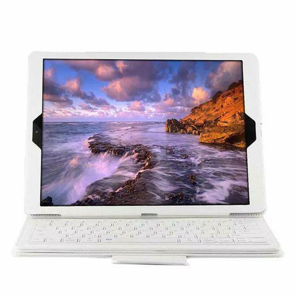 BT3.0 беспроводная клавиатура-Чехол клавиатура Bluetooth крышки дело IOS ультра тонкий для IPad 12,9 дюйма Беспроводной - Цвет: white