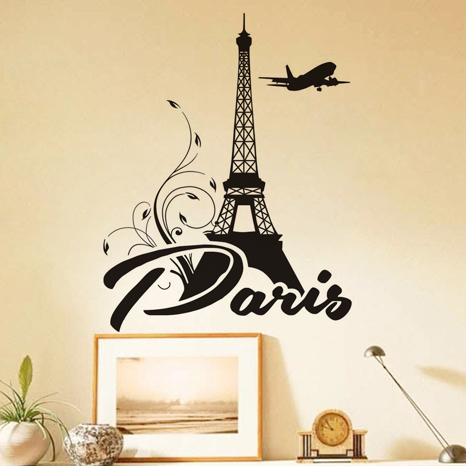 Aliexpress buy paris eiffel tower wall stickers for lover aliexpress buy paris eiffel tower wall stickers for lover bedroom wall decor vinyl self adhesive art wall decal home decoration accessories from amipublicfo Images