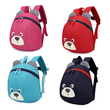 Plush Backpacks Anti-lost Kids Baby Bag Cute Animal Dog Children Backpacks Kindergarten Bag Aged 1-3