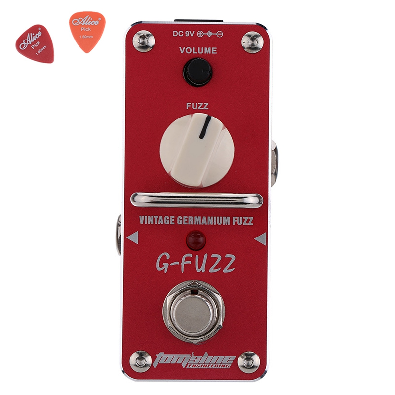 все цены на AGF-3 Vintage Germanium Fuzz Guita Guitar Effect Pedal Aroma Mini Analogue Pedals  With True Bypass guitar Parts Aluminium Alloy онлайн