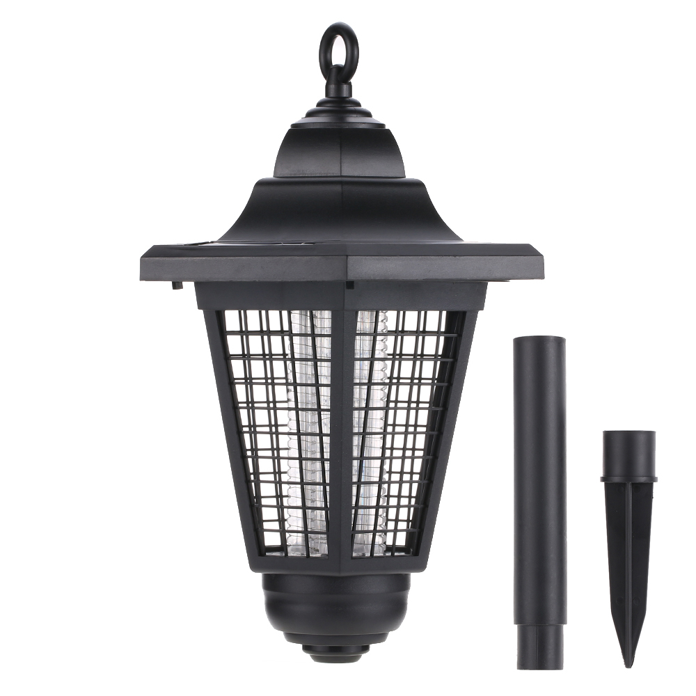 Porch Light Bug Zapper: New Summer Solar Outdoor Mosquito Repeller LED Trapping