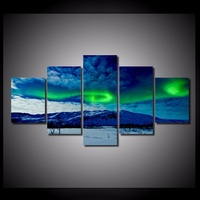 5 Piecesset Northern Lights Wall Art Paintings Picture Print On Canvas For Home Decoration Wall Art