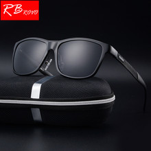 RBROVO 2018 Polarized Aluminum-Magnesium Alloy Sunglasses Men Brand Design Sun Glasses HD Classic Retro Outdoor Glasses