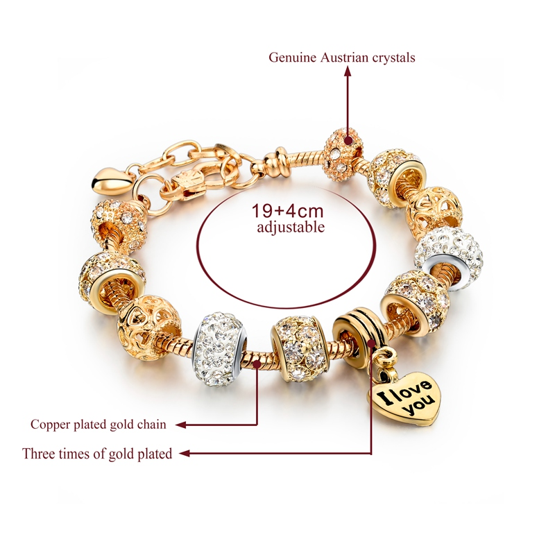 Szelam Heart Charm Bracelets For Women Snake Chain Gold Color Bangles Fashion Jewelry Sbr150074 In From Accessories On