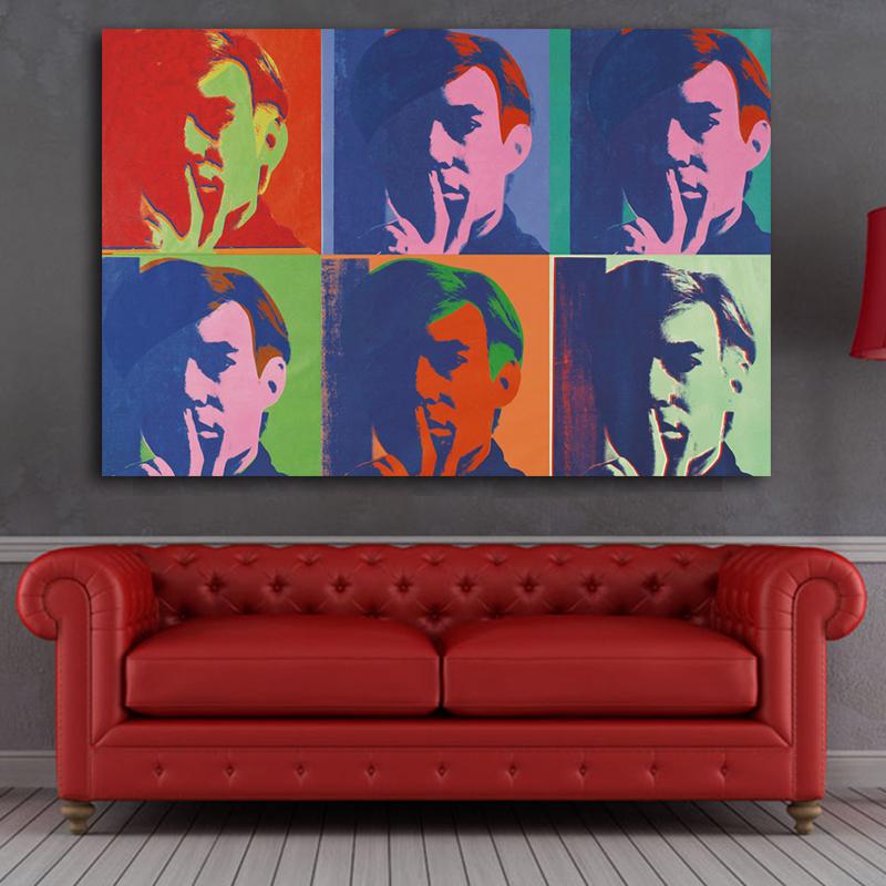 impresin de andy warhol pintura al leo sobre lienzo de pared imagen de arte para nios dormitorio decoracin arte de la p