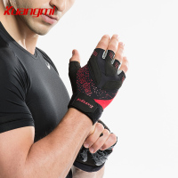 Kuangmi 1 Pair Crossfit Fitness Gloves Dumbbell Weightlifting Training Gloves Half Finger Cycling mitten gym luva fitness Glove
