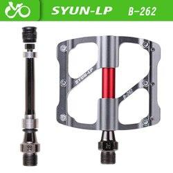 Pedal da bicicleta 3 rolamentos antiderrapante ultraleve cnc mtb mountain bike pedal selado pedais de rolamento acessórios da bicicleta