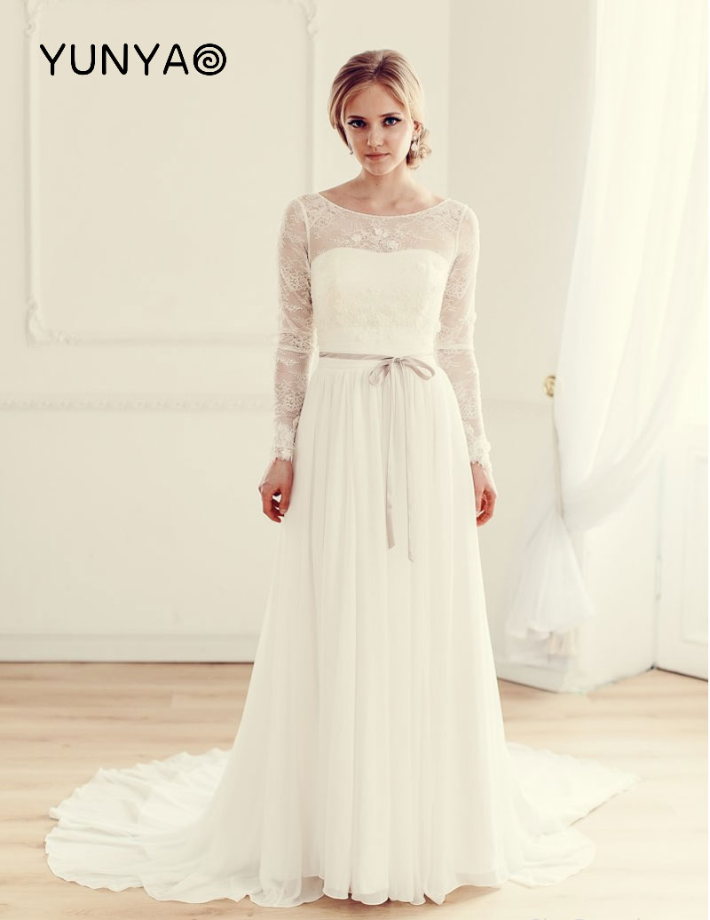 Wedding Dress Simple Long Sleeve: Simple long sleeve winter ...