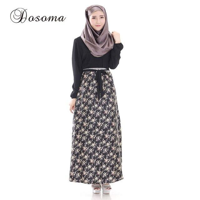 Maxi dress pattern for muslimah image