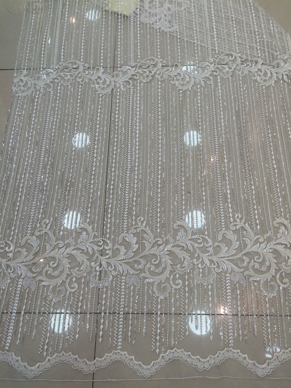 Hot selling net tulle lace new arrival LJY 110901 1 african lace fabric beaded french nigerian