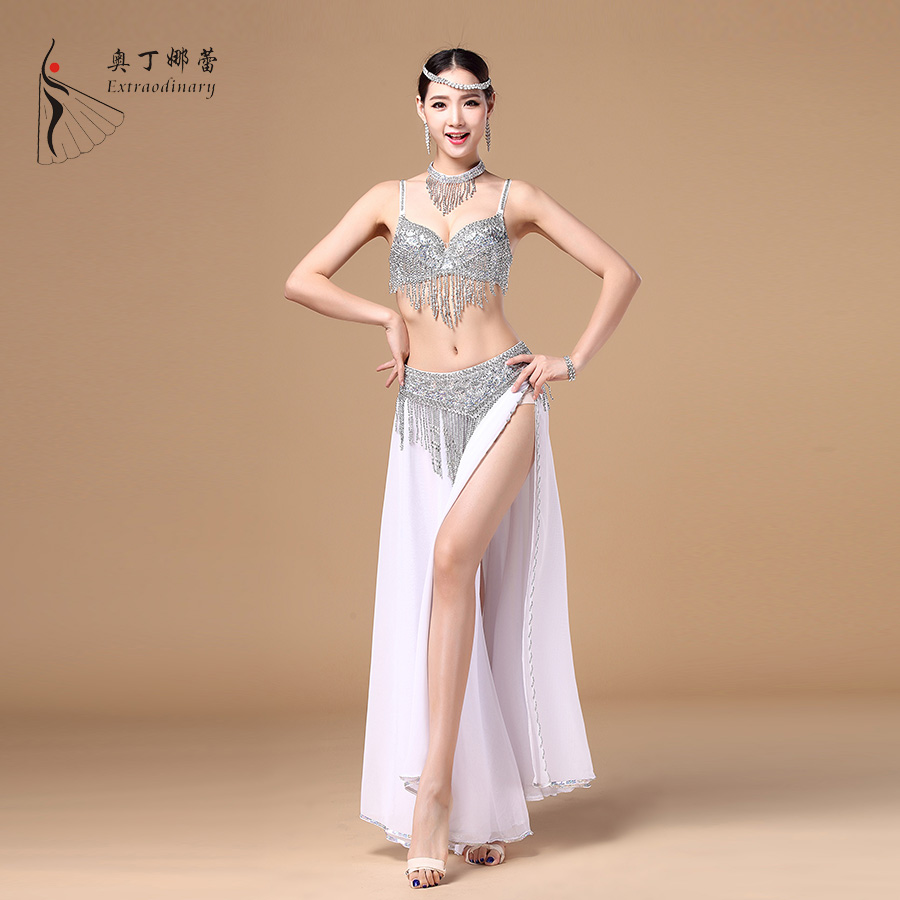 Bra Belt Shirt Necklace Sets High end Egypt Belly Dance Costume Belly Costume for Women Belly