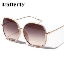 Ralferty Elegant Ladies Oversized Sunglasses Women Gradient Sun Glasses UV400 Big Face Shades Black Brown Lens Eyewear A1153