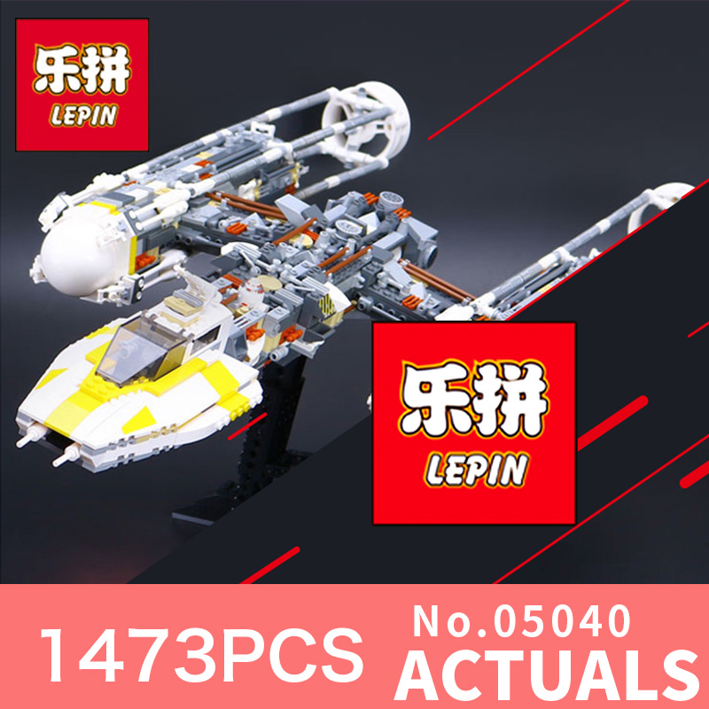 Star 1473Pcs Wars Lepin 05040 Cool Y-wing Attack Starfighter Building Block  Assembled Bricks Toys Compatible LegoINGlys 10134 lepin 05037 star wars ucs slave i slave no 1 model 2067pcs minifigure building block toys 100