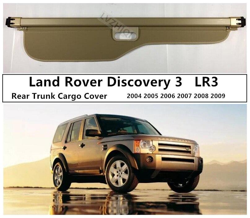Pour Land Rover Discovery 3 LR3 2004-2009 coffre arrière bouclier de sécurité couvercle de chargement accessoires Auto de haute qualité noir/Beige