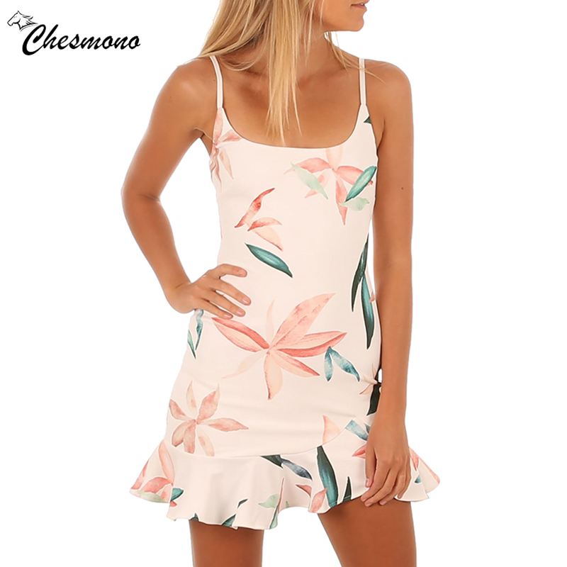 Sexy Square neck ruffle strap mini dress women Skinny print mermaid dress 2018 Summer dress bodycon party vestido