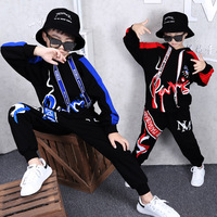 Baby Boy Clothing 2019 Kids Spring Sets Latest Casual Trend Long sleeve Hip hop Sports Two piece Suit Christmas Birthday Gift