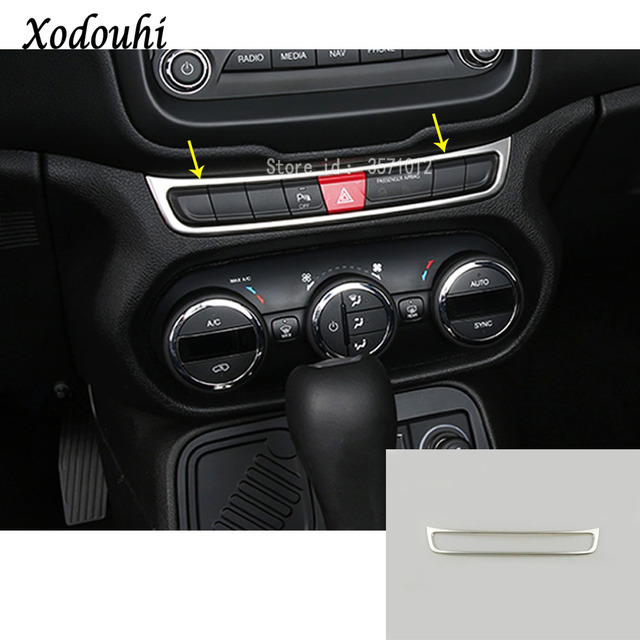 For Jeep Renegade 2016 2017 2018 Car Stainless Steel
