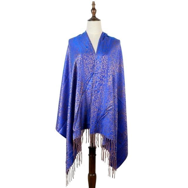 Chal tejido pashmina india moda mujer capas jacquard hijabs primavera Cachemira cachemir hijab mujer silenciador estola envolturas