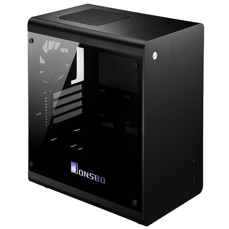 New arrival jonsbo rm3 aluminum double matx computer case usb3.0 hearth