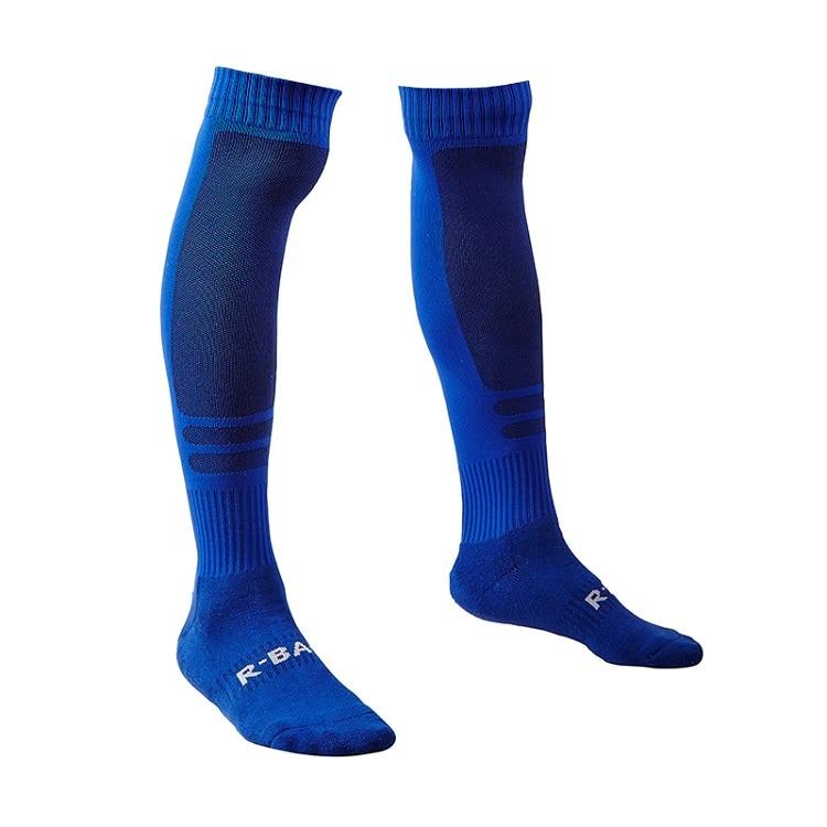 R-BAO, 1 пара, хлопковые мужские спортивные носки, прочные длинные футбольные спортивные носки, футбольные баскетбольные дышащие противоскользящие гольфы - Цвет: blue