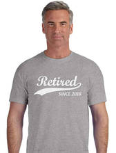 Custom Printed Shirts MenS Crew Neck Tall Retired Since  Short T Shirt