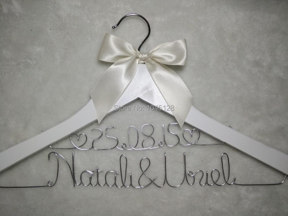 Dijual Gantungan Baju Pernikahan Pribadi dengan Tanggal atau tanpa - Organisasi dan penyimpanan di rumah - Foto 2