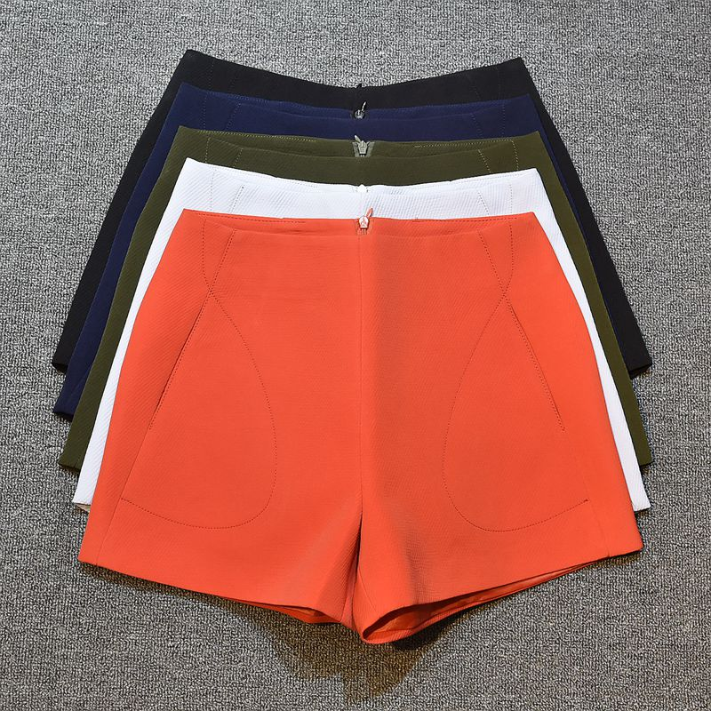 SexeMara New Fashion women's Summer   Shorts   Skirts Red & Black high waist wide leg   shorts   pantalones cortos mujer A-line   short