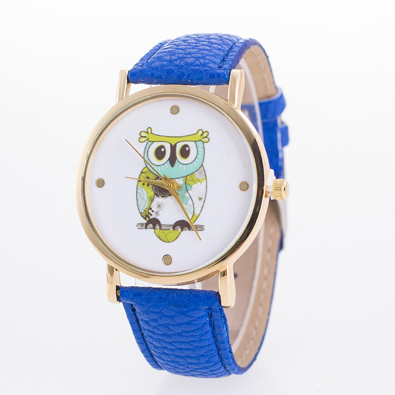 XG452 Casual Lovely Owl Womens Quartz Wristwatch Leather Womens Bracelet Watch Dress Watch Relogio Feminino Love Grils Gift