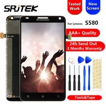 Продажа Srjtek Экран для lenovo S580 ЖК-дисплей Дисплей Сенсорный экран планшета Панель сборки запасные части 5,0 »для s580 lenovo Дисплей