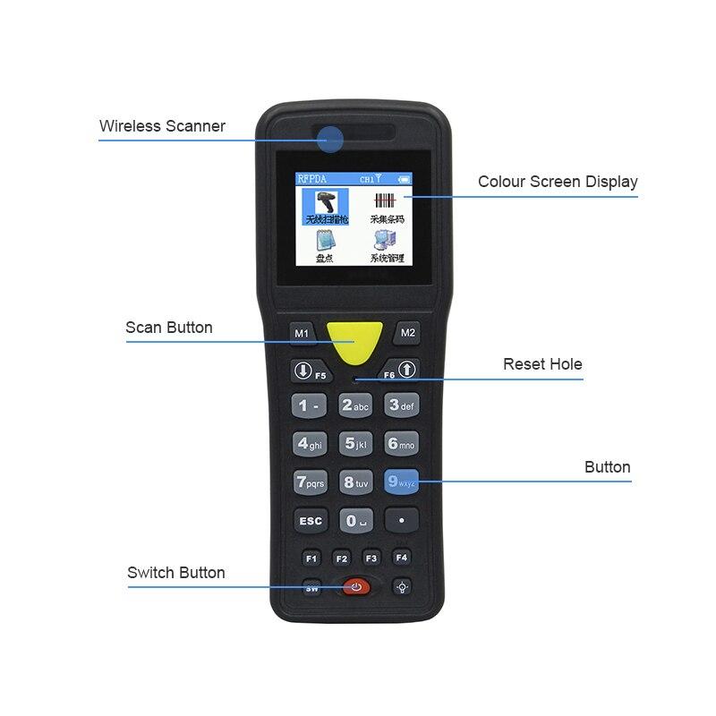 Беспроводной мини-сборщик данных ручной сканер штрих-кодов курьер, посвященный развертки кода ручной терминалы супермаркет склад