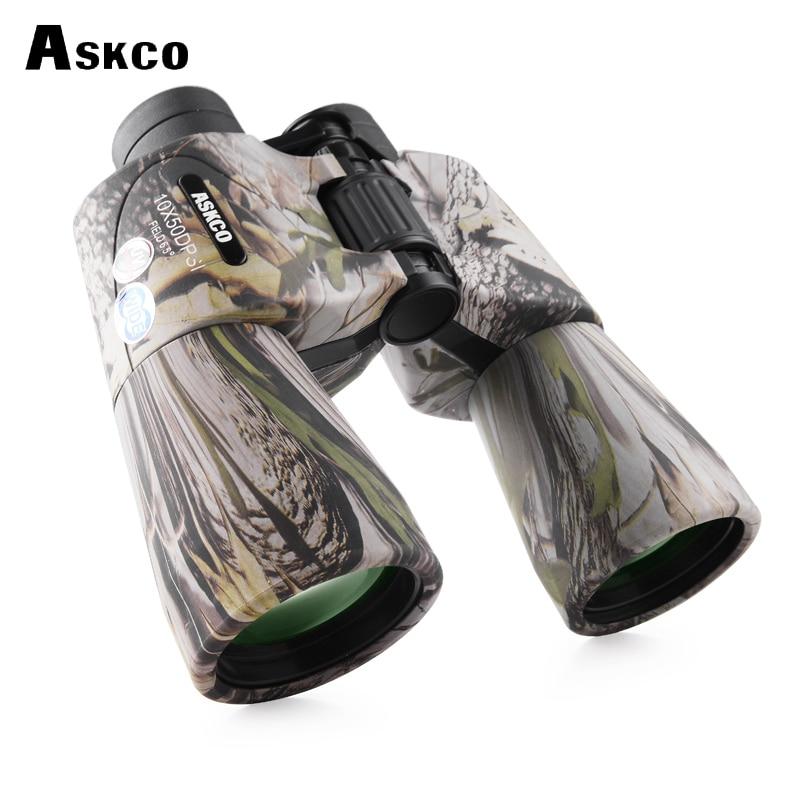 Askco HD Military Binoculars 10X50 Wide Angle Top Bak4 Prism Telescope Portable Long Range Top binoculars for Hunt Camouflage cropped wide sleeve top