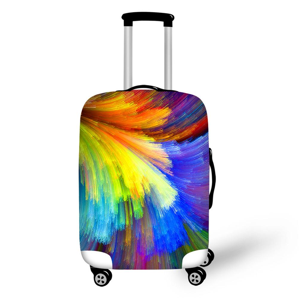 Fashion Colorful Design Travel Luggage Cover Thick