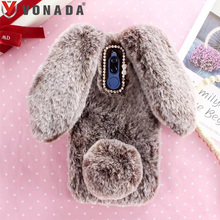 Bunny Case for Asus Zenfone 2 ZE550ML 2 Laser ZE550KL ZE500KL Selfie ZD551KL Soft Fur Cute 3D Rabbit Ears TPU Diamond Case Cover