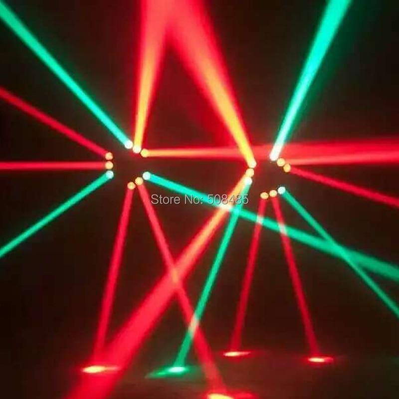 NYHET 9x12w RGBW 4in1 Spindel LED-stråle rörlig huvudljus Färgglad - Kommersiell belysning - Foto 6