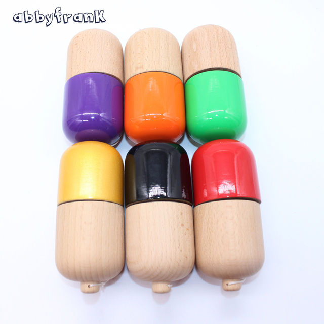 Abbyfrank Professional Pill Kendama Ball Natural Wooden Japanese Traditional Toy Ball Game Juggling For All-age Gift