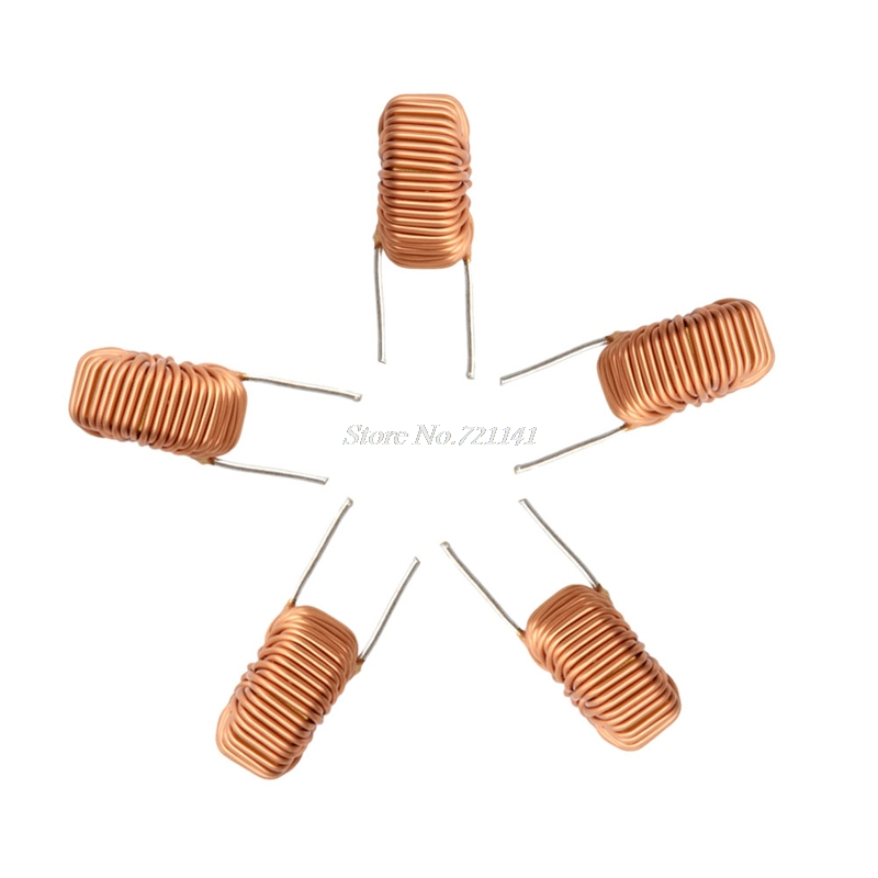 5Pcs Toroid Core Inductors Wire Wind Wound DIY Mah--100uH 6A Coil New