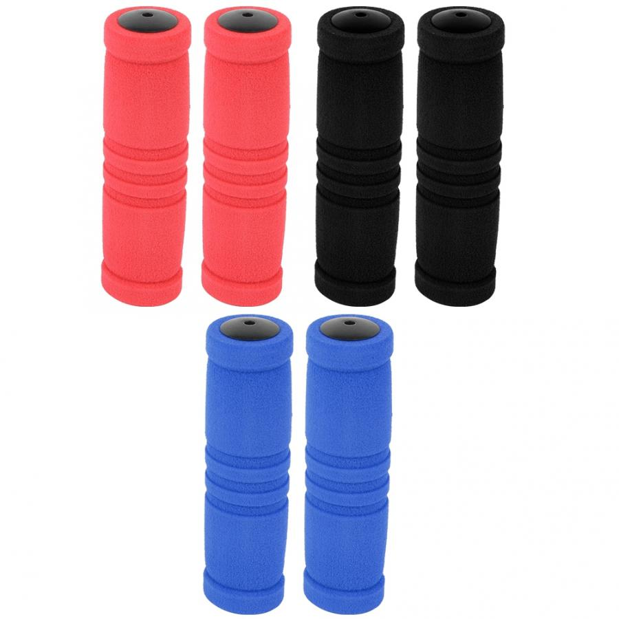 12CM Rubber Bike Handlebar Grips Cover MTB Mountain Bicycle Handles Anti-skid Bicycles Bar Grips Fixed Gear Bicycle Accessories