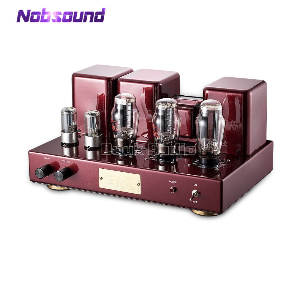 Nobsound Hi-end 2A3 estéreo de tubo de vacío integrado amplificador Hi-Fi Single-Ended Clase A amplificador de potencia negro y rojo