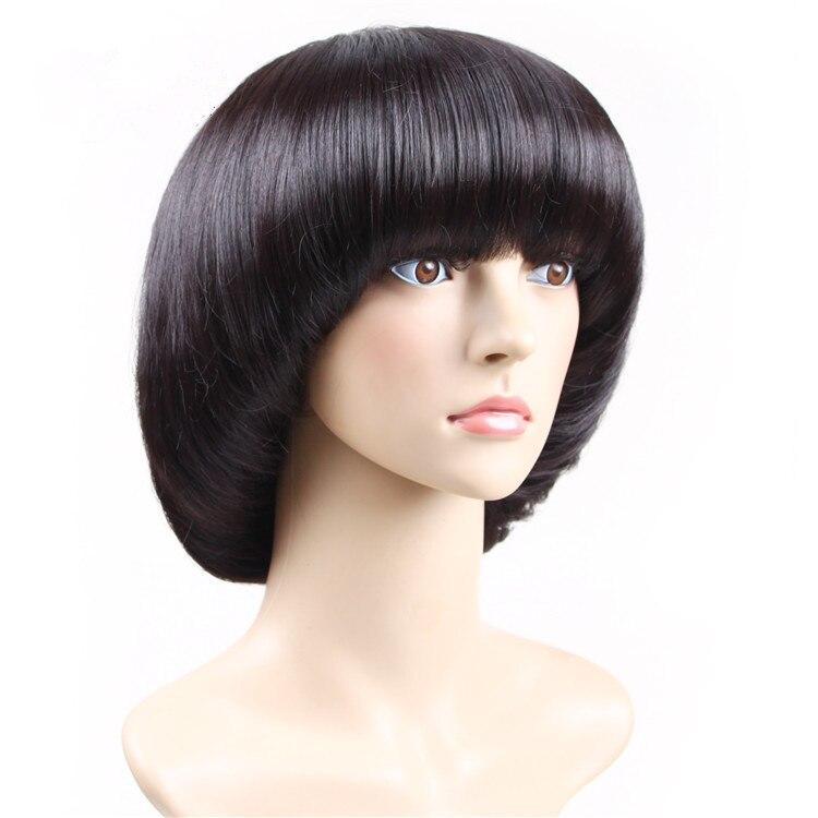 New Stylish Lady's Curly Short Wig Mushroom Style Hair Heat Resistant Full Hair Cosplay Wig Full ...