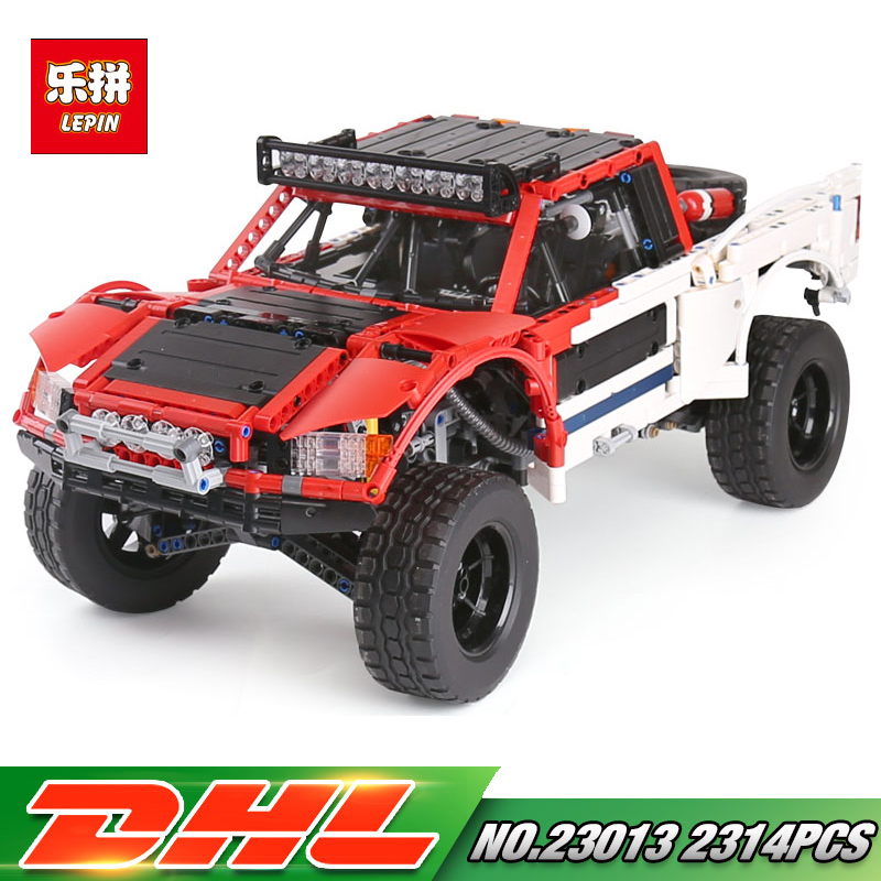 Lepin 23013 Genuine Technic Series The Remote-Control Off-road Car Set 2314Pcs Building Kits Blocks Bricks LegoING Gifts new lepin 23011 technic series 2816pcs off road vehicle model building blocks bricks kits compatible 5360 boy brithday gifts
